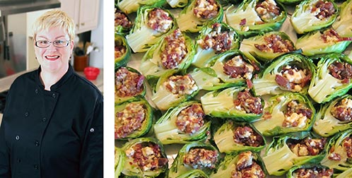 Bacon and Blue Cheese Stuffed Brussel Sprouts