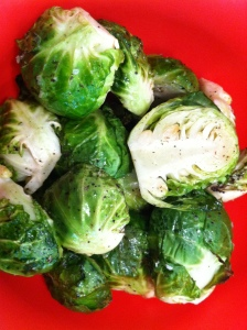 Delicious roasted brussels sprouts!