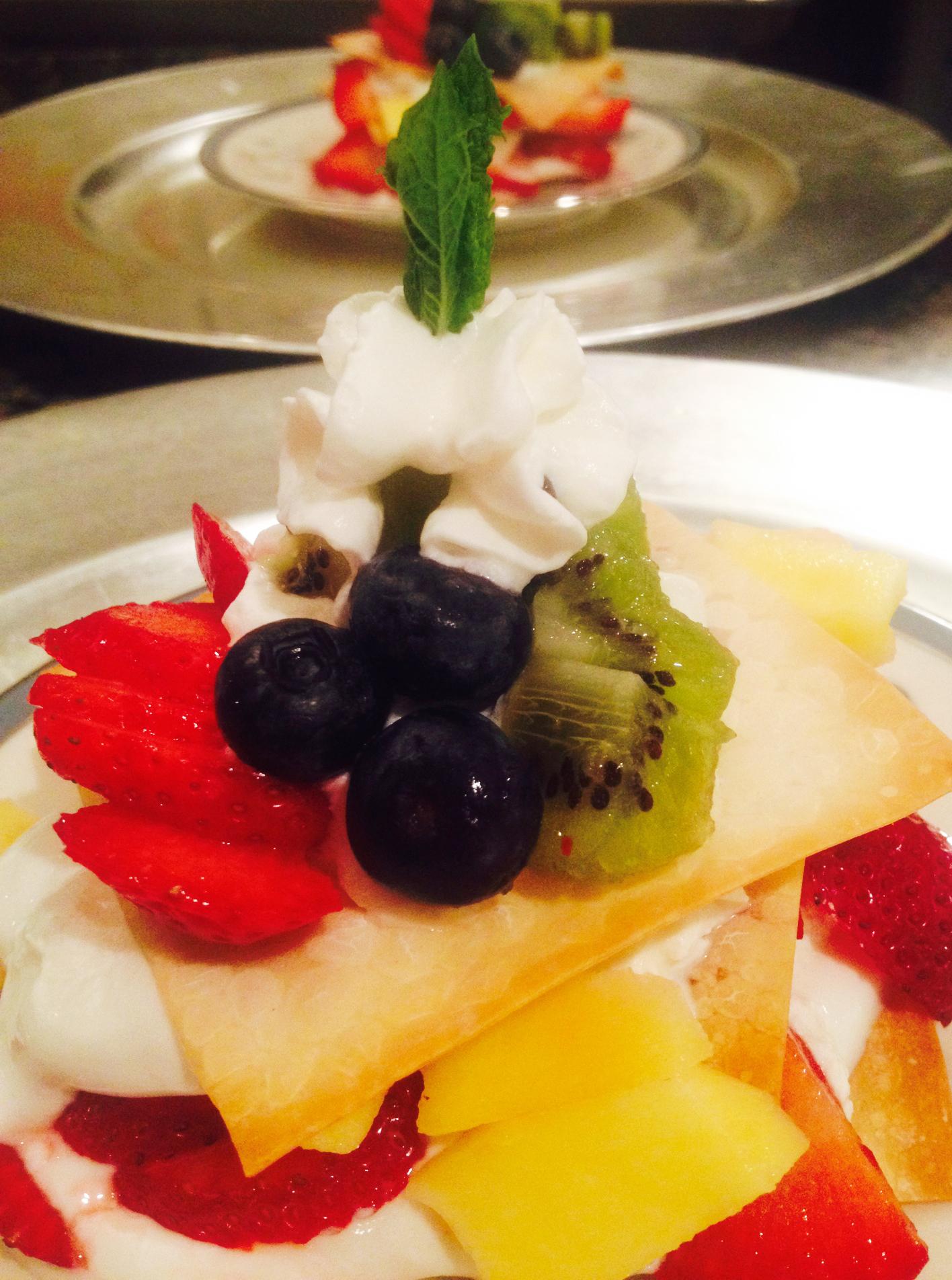 Layered Fresh Fruit Dessert