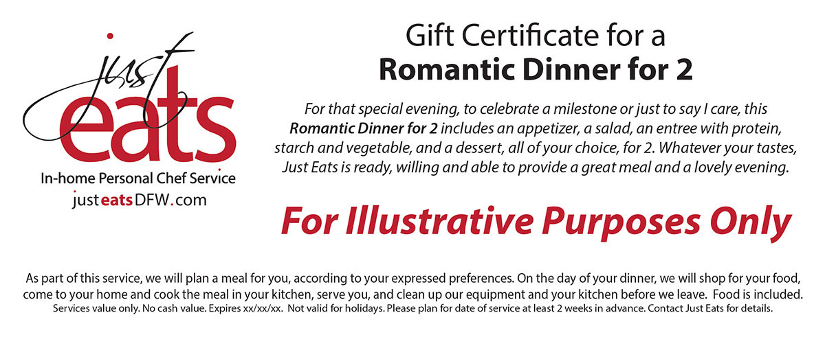 Example of gift certificate