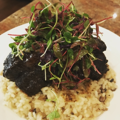 Braised Short Ribs and Mushroom Risotto