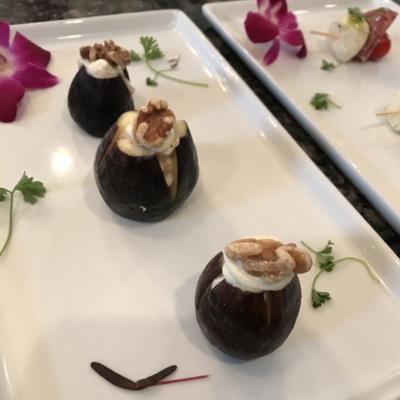 Honeyed Goat Cheese Stuffed Figs