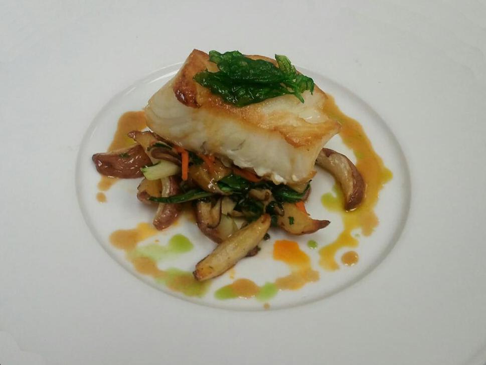 Sea Bass, Soy, Shiitake Mushroom